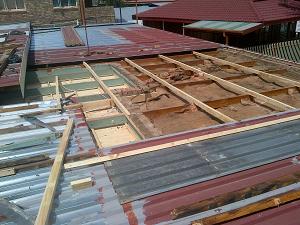 Repairing of existing zinc roof