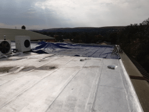 Waterproofing concrete roof