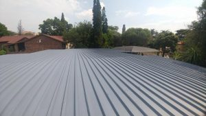 Waterproofed and painted flat roof