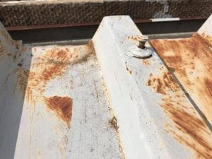 Rusted zinc roof