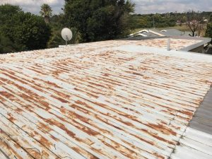 Rusted IBR flat roof