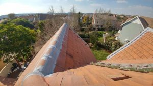 Waterproofing high pitch roof