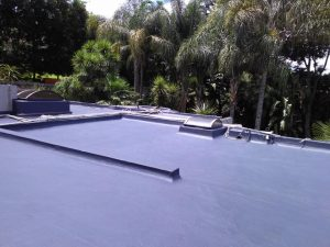 Concrete roof waterproofed and painted