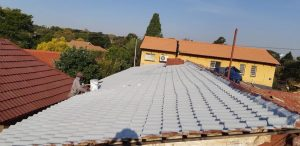 Waterproofing on a tile roof